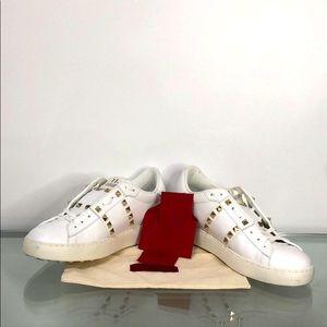Valentino Garavani white studded sneakers